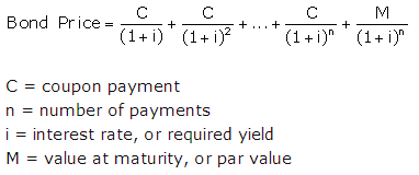 calculating a bonds price