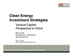 clean energy investing
