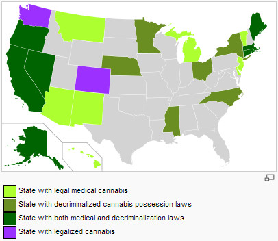 States With Legal Marijuana